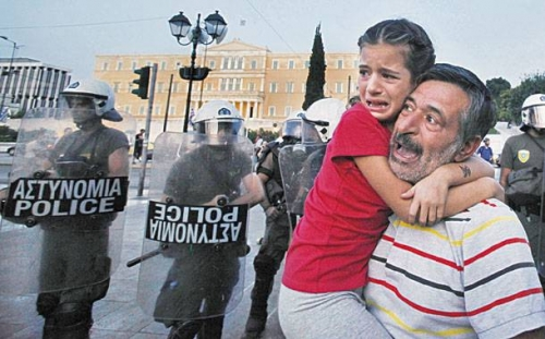 "Post image for Greek police beat 8-year old: ""dad, why did they hit me?"""