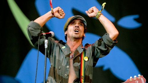 Post image for #OCCUPYWALLSTREET at Manu Chao concert