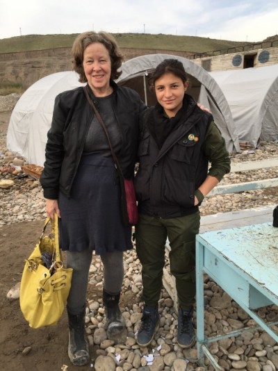 Photo by Dilar Dirik; I am with Asayis member Beritan Çudî. She is 25 years old and comes from Dirbesiye. in Rojava
