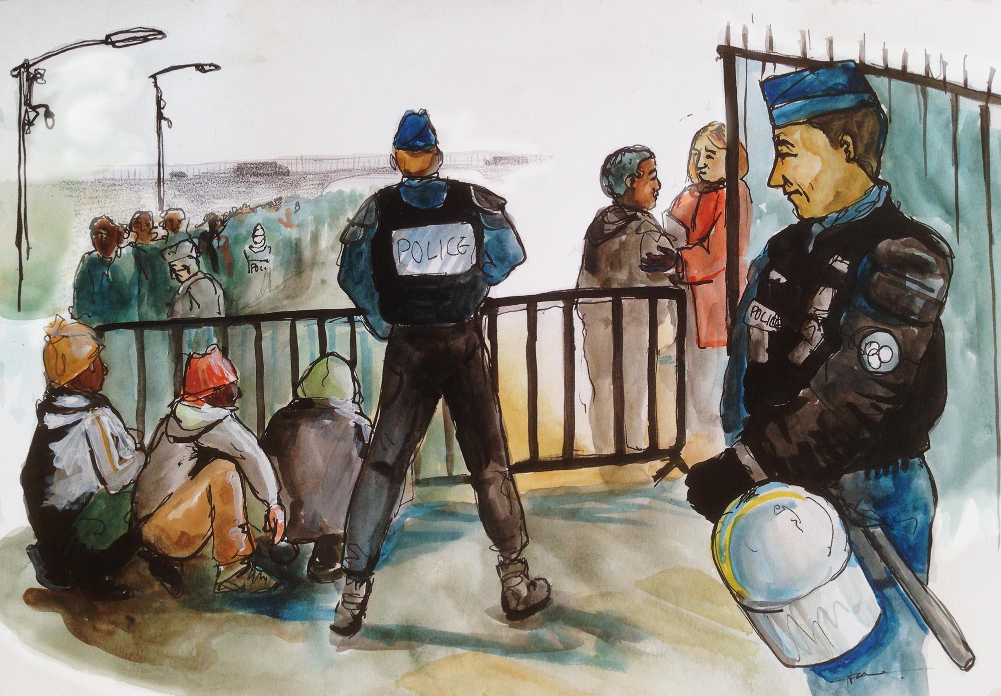 calais-police-registration-lines